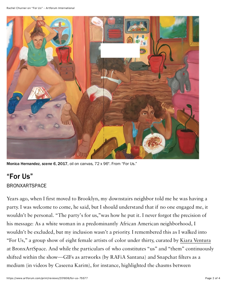 "PG 2 Rachel Churner on ""For Us"" - Artforum International copy"