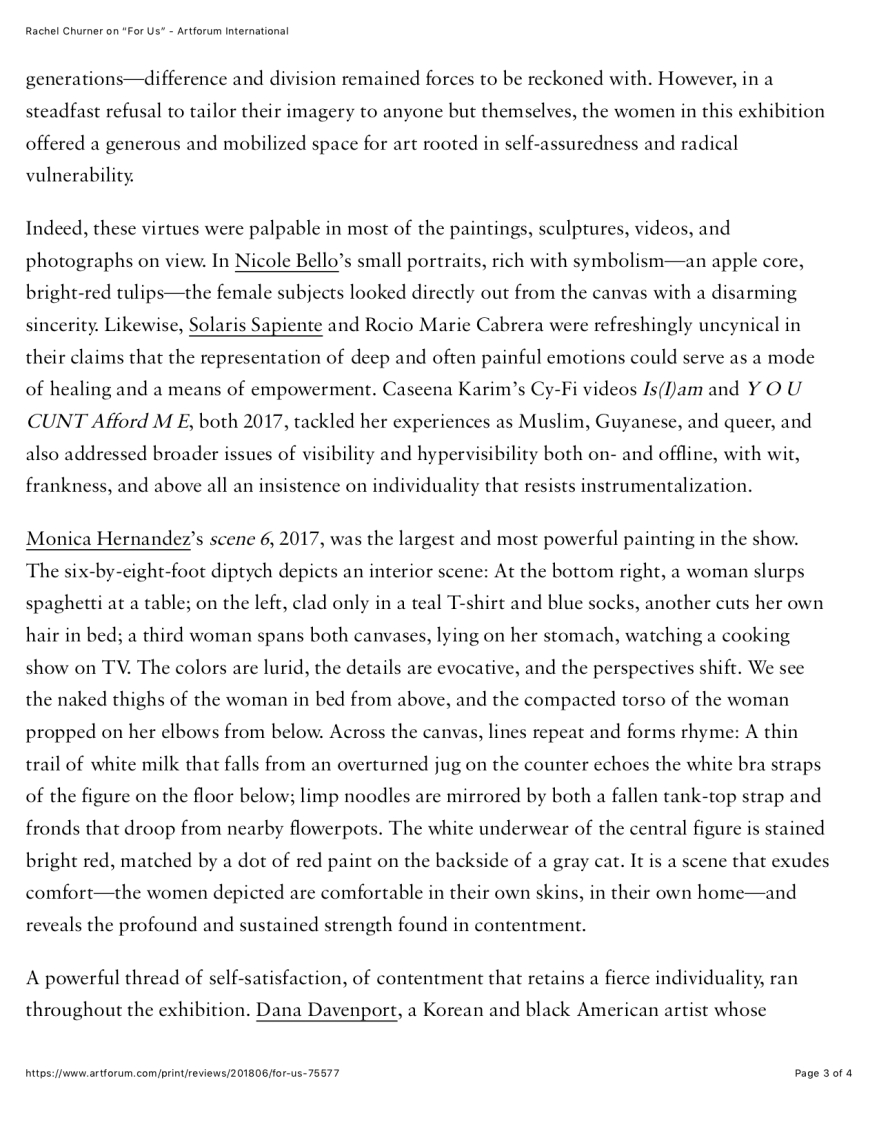 "PG 3 Rachel Churner on ""For Us"" - Artforum International copy"